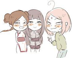 TenTen, Hinata and Sakura! They're up to something!