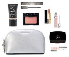 Mrs Anastasia Grey - Makeup Bag by ohmyfifty on Polyvore featuring Chanel, NARS Cosmetics, Burberry, Christian Dior, By Terry and MICHAEL Michael Kors