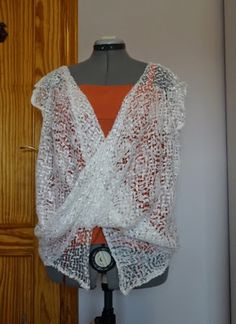 easy top with two squares of fabric