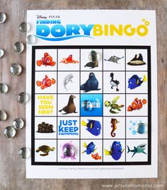 Free Printable Finding Dory Bingo #HaveYouSeenHer
