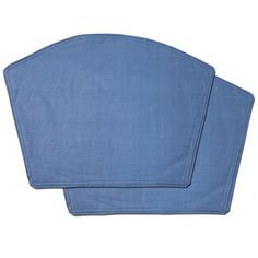 Chambray Restaurant Quality Heavyweight Vinyl Wedge Table Placemats (Set of 2, 4 or 6)