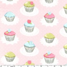 Cupcake fabric. Wish it was a wallpaper, that way I add it to my cupcake shop..someday when I have one.