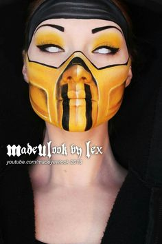 Madeulook by lex amazing body paint... Ricky and I are doing Mortal Combat couples costumes next year! :)