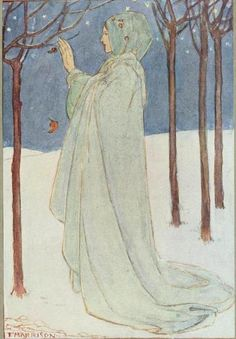 A Book of Poetry Illustrated by Florence Harrison : Winter is cold-hearted.