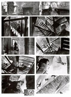 "Storyboard sequence from ""Vertigo"" (Alfred Hitchcock, 1958)"