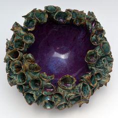 Turquoise & Purple Flower Bowl