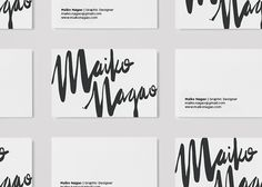 Maiko Nagao: New branding design by Maiko Nagao Published by Maan Ali