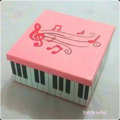 Caixa Notas Musicais - Piano