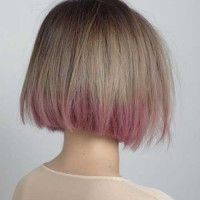 Short-Hair-Ash-Blonde-and-Pink-Ombre