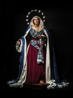 Cofrades de Viveiro: Nuestra Señora la Virgen del Camino de la Luz Vestida de Hebrea... Blessed Mother Mary, Blessed Virgin Mary, Religious Images, Religious Art, Holy Mary, Mary I, Our Lady Of Sorrows, Images Of Mary, Bride Of Christ