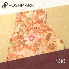 Floral dress Jcrew sleeveless flower print dress J. Crew Dresses Strapless