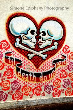 Till Death Do Us Part Austin Street Art by SimoneEpiphany on Etsy, $15.00