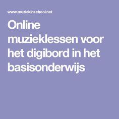 Online muzieklessen voor het digibord in het basisonderwijs