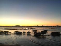 Winter sunrise over Rangitoto, Auckland New Zealand