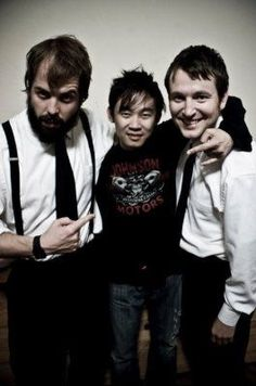 Angus Sampson, James Wan, and Leigh Whannell from insidious