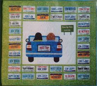 Road Trip Quilt Pattern in 2 Sizes by Handcrafts by Jennifer Quilting Tutorials, Quilting Projects, Quilting Designs, Sewing Projects, Quilting Ideas, Sewing Ideas, Craft Projects, Sampler Quilts, Scrappy Quilts