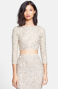 c98e918e9c6 Free shipping and returns on Alice + Olivia  Lacey  Embellished Crop Top at  Nordstrom