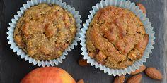 Lækre æblemuffins, der kan nydes med god samvittighed, da de er uden mel, smør og raffineret sukker. I stedet sørger æbler, dadler og peanutbutter for at gøre dem dejligt søde og svampede.
