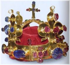 St Wenceslas Crown, Bohemia, 1347 Crown of Saint Wenceslas is the part of Bohemian Crown Jewels (also called Czech treasure) made in 1347. The eleventh king of Bohemia from the House of Luxembourg, and Holy Roman Emperor Charles IV had it made for his coronation and forthwith he dedicated it to the first patron saint of the country St. Wenceslas and bequeathed it as a state crown for the coronation of future Bohemian kings, his successors to the Bohemian throne.