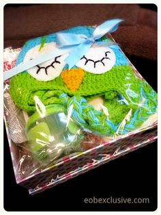 Our first mini baby boy hamper for our friend. Consist of an owl beanie, wet bag and OXO Tot Snack Cup. Order your customised baby hamper at Embassy of Babies.  Web: www.eobexclusive.com