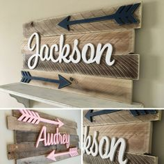 Rustic Nursery Name Sign