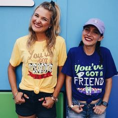 Toy Story BFF Tees You've got a friend in me Disneyland outfit Cute Disney Outfits, Disney World Outfits, Disneyland Outfits, Disney World Shirts, Disney Inspired Outfits, Disney Style, Disney Fashion, Disney Clothes For Girls, Bff Clothes