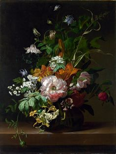 Rachel Ruysch (1664-1750)  —   Flowers in a Vase (1000×1330)