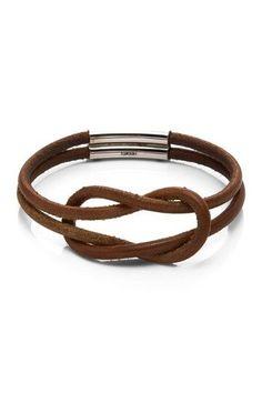 Estate Jewelry Hermes Leather Celtic Knot Bracelet
