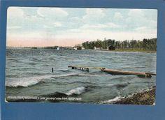 Postcard Vandercook's Lake General View from Hague Park Jackson MI | eBay