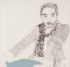 Claire Heathcote's embroidered portraits