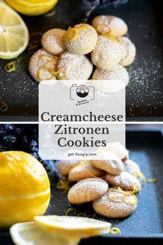 Creamcheese-Zitronen-Cookies - Luftige Soft-Kekse zu Tee und Kaffee Getting Hungry, Pretzel Bites, Hamburger, Cereal, Cookies, Breakfast, Espresso, Desserts, Food