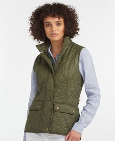 Barbour Otterburn Gilet in Olive   Barbour Barbour, Must Haves, Tee Shirts, Women Wear, Vest, Jackets, Shopping, Tops, Mornings
