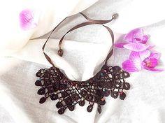 Zuy / Háčkované náhrdelník Indiánske leto