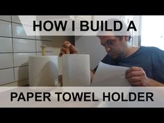 How I made a Paper Towel Holder from scrap wood I have laying around. - YouTube Paper Towel Holder, Toilet Paper, Scrap, Woodworking, Youtube, How To Make, Carpentry, Wood Working, Woodwork