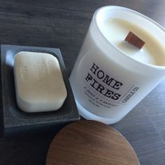 A SHAVE & A HAIRCUT 100% soy wax candle by HomeFiresCandleCo