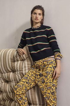 Stunning Isabel Marant Etoile look. Love the print on these trousers!