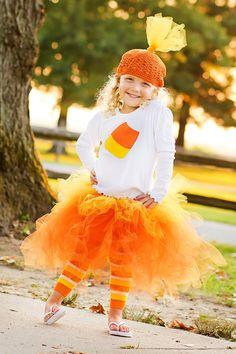 Candy Corn Tutu Halloween Costume