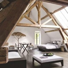 The room is space of the house that has a particular part in turning into a component of the interior home. It ought not to be too stark in decorating a room as it is for sure that you will wind up… Attic Renovation, Attic Remodel, House Renovations, Interior Exterior, Interior Architecture, Room Interior, Interior Ideas, Sweet Home, Attic Rooms