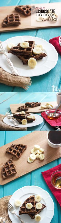 Double Chocolate Banana Waffles (gluten-free, dairy-free, paleo) @Janet Russell-Snider Express #spon
