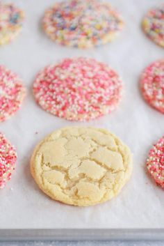 Soft and Chewy Sugar Cookies {with Valentine's sprinkles}