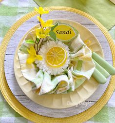 Dining Delight: Mother's Day Lemon Themed Tablescape Yellow Dinner Plates, Yellow Bowls, Battery Operated String Lights, Grace Home, Taper Candles, Lemon Yellow, Cloth Napkins, Spring Green, Salad Plates