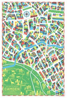 Spanish company Walk with Me are famous for collaborating with local artists to create neighbourhood maps. They started by mapping their hometown of Madrid Map Design, Book Design, London Neighborhoods, City From Above, Local Map, Collaborative Art, Vintage Maps, City Maps, Digital Illustration