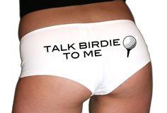 Golf Gift. Golf Underwear. Golf Panties. Golf Girlfriend. Golf Wife. Bride Underwear. Bride Underwear. Bachelorette Gift. Talk Birdie To Me. by SkivviesApparel on Etsy