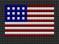 Lego US Flag by drsparc on DeviantArt