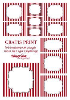 { Gratis merkelapper til jul – candy cane! Christmas Inspiration, Candy Cane, Free Printables, Templates, Creative, Licence Plates, Ireland, Tags, Culture