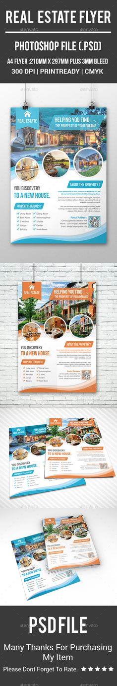 Real Estate Flyer Template PSD. Download here: http://graphicriver.net/item/real-estate-flyer/16078958?ref=ksioks