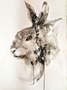 Ink Rabbit by huatunan.deviantart.com on @deviantART