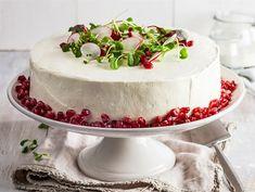 Lihavoileipäkakku Sandwich Cake, Sandwiches, Mets, Cheesecakes, Appetizers, Pie, Cupcakes, Desserts, Drinks