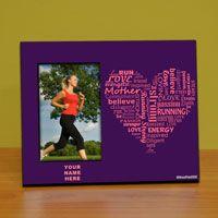 Runners Personalized Photo or Medal Frame - Runner Moms Heart