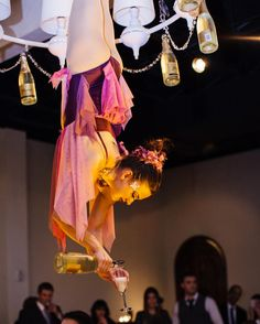 """""""Hire an aerial bartender for your wedding"""" WHAT COULD GO WRONG WTF  11 Ways to Keep Guests Entertained Throughout Your Wedding Weekend   TheKnot.com"""